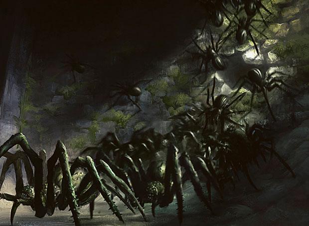 MTG 4x KESSIG RECLUSE Dark Ascension *Spider Reach Deathtouch*