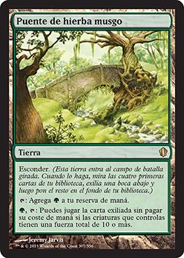 Puente de hierba musgo