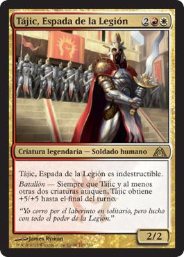 Tájic, Espada de la Legión