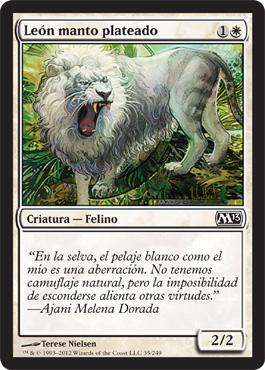 León manto plateado