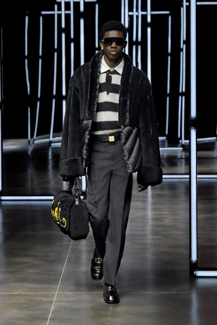 FENDI AW21 MENSWEAR black jacket and trousers