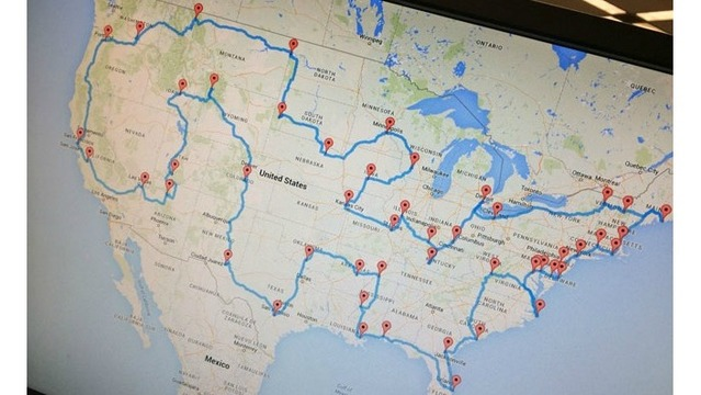 Man creates ultimate road trip map to see 48 states