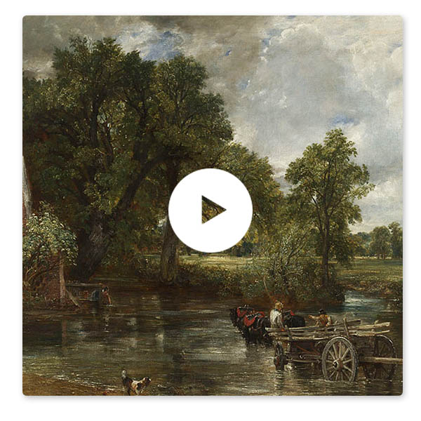 Detail from John Constable, 'The Hay Wain', 1821 © The National Gallery, London