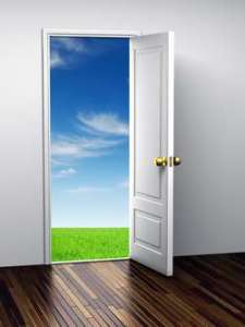 Opened door to Paradise