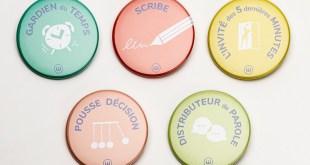 badges réunion déléguée