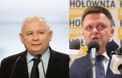 Jarosław Kaczyński / Szymon Hołownia / autor: fratria