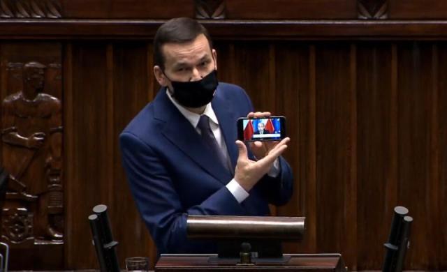 Premier / autor: screenshot/sejm.gov.pl