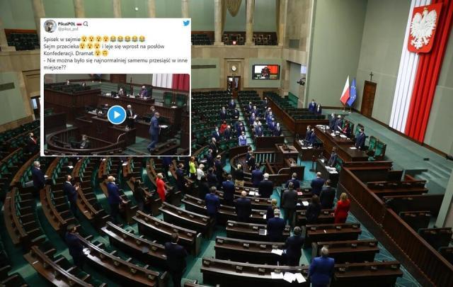 Sejm / autor: PAP/Rafał Guz/Twitter PikuśPOL