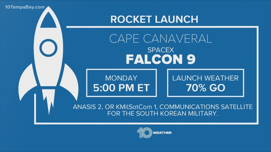 SpaceX launch scheduled for this afternoon | wtsp.com