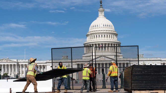 Fencing at Capitol may go back up before Sept. 18 rally   wusa9.com