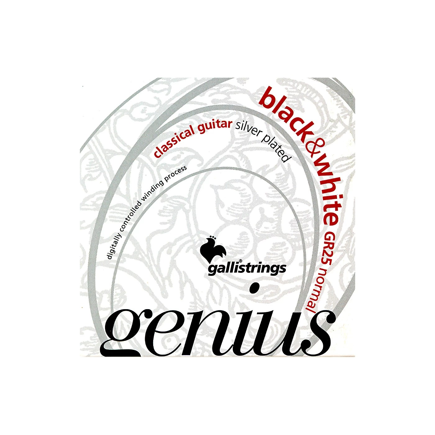 Galli Strings Gr25 Genius Black And White Coated