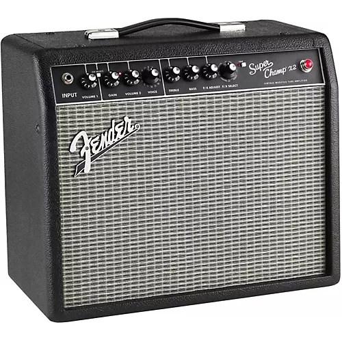 Fender Black Super Champ X2 15w 1x10 Tube Guitar Combo Amp