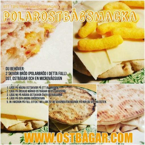 Varm smörgås med ostbågar