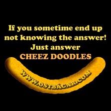 Svara alltid ostbågar