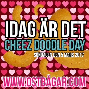 Cheez doodle day 5 mars 2017