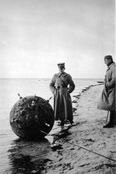 Fartygsmina vid Ljungsäter. 1939.
