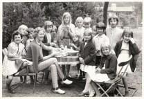 Fröken o barn på Trelleborgs skollovskoloni
