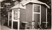 Kiosk på Falsterbo station 1937.
