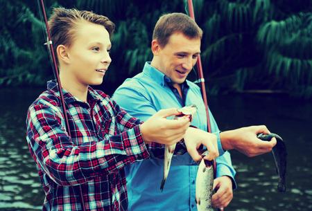 fiskar med pappa
