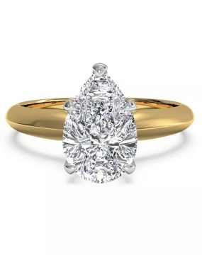 Pear Shaped Engagement Rings Ritani  Solitaire Diamond Knife Edge Engagement Ring