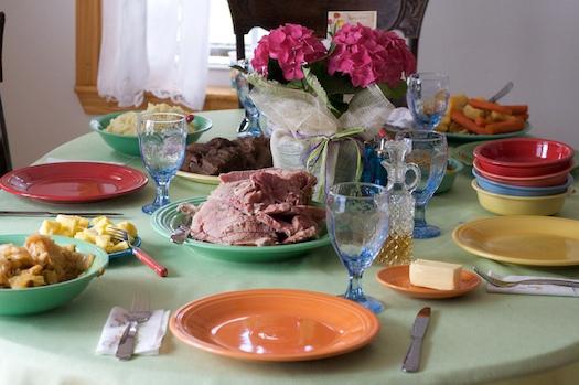 Rainbow Easter Dinner