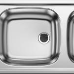 Blanco Top Kuchenspule Mit Abtropfflache Mit Uberlauf 1235 Edelstahl Poliert Schwarz Xtwostore