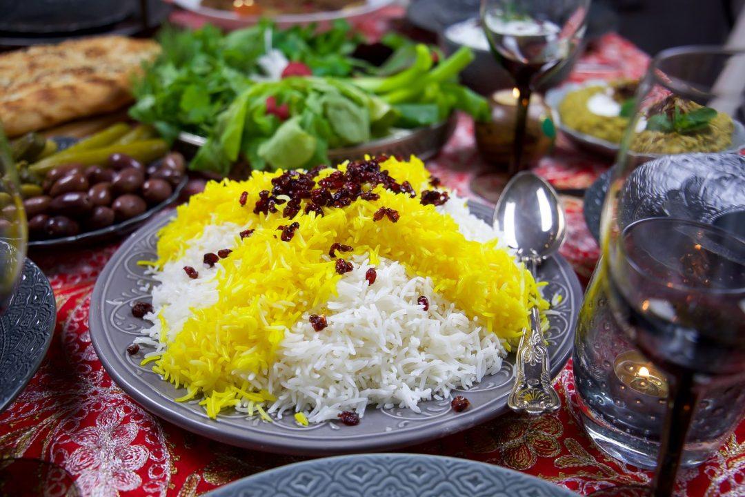 persiskt ris med kyckling