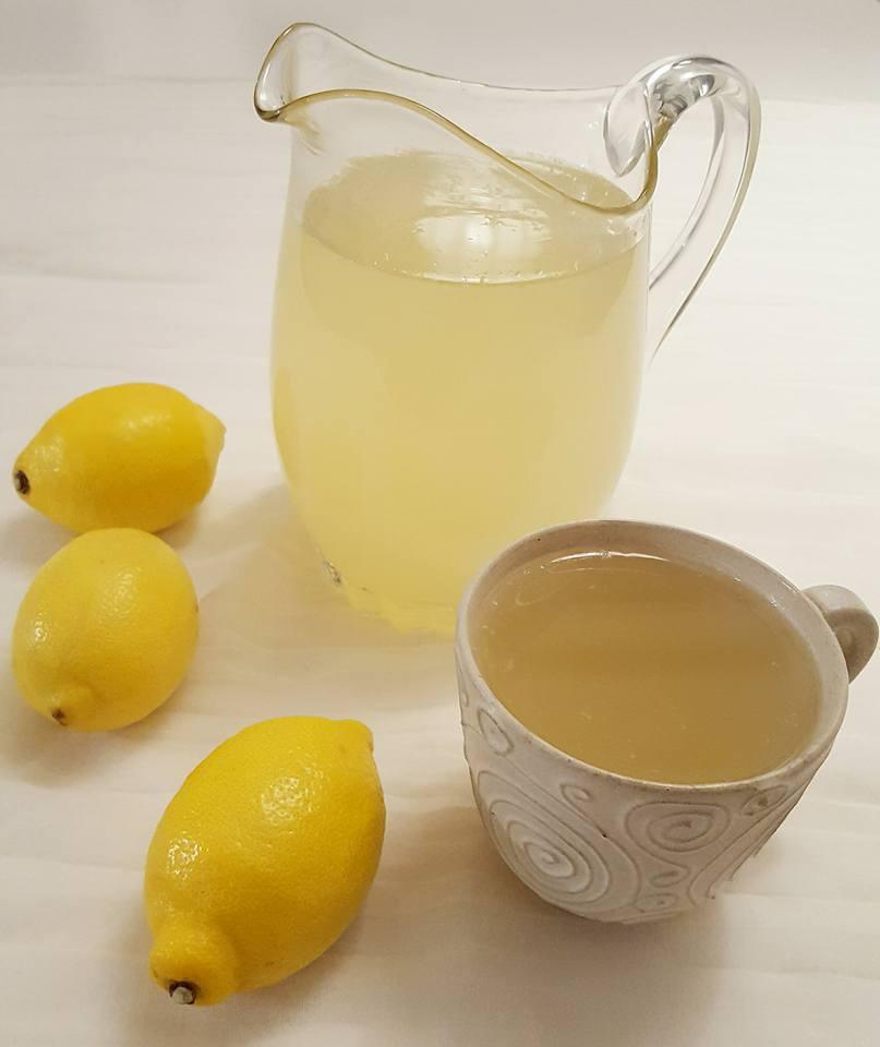 drink med ingefära och citron