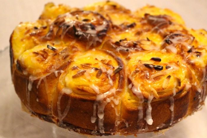 Se så vackert! Fantastisk kaka.