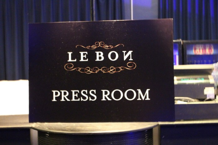 Pressrummet som sedan förvandlades till ett mingelrum.