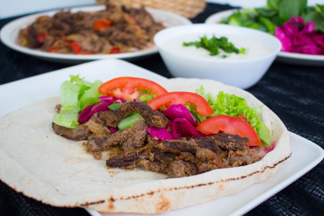 Kött shawarma