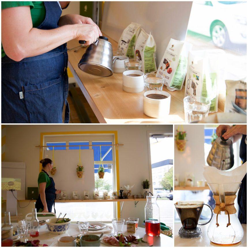 Kaffekoppning där vi fick smaka och lukta på olika kaffesorter. Väldigt kul och intressant. Vi fick även lyssna på en föreställning om hur man tar fram ett riktigt bra kaffe.