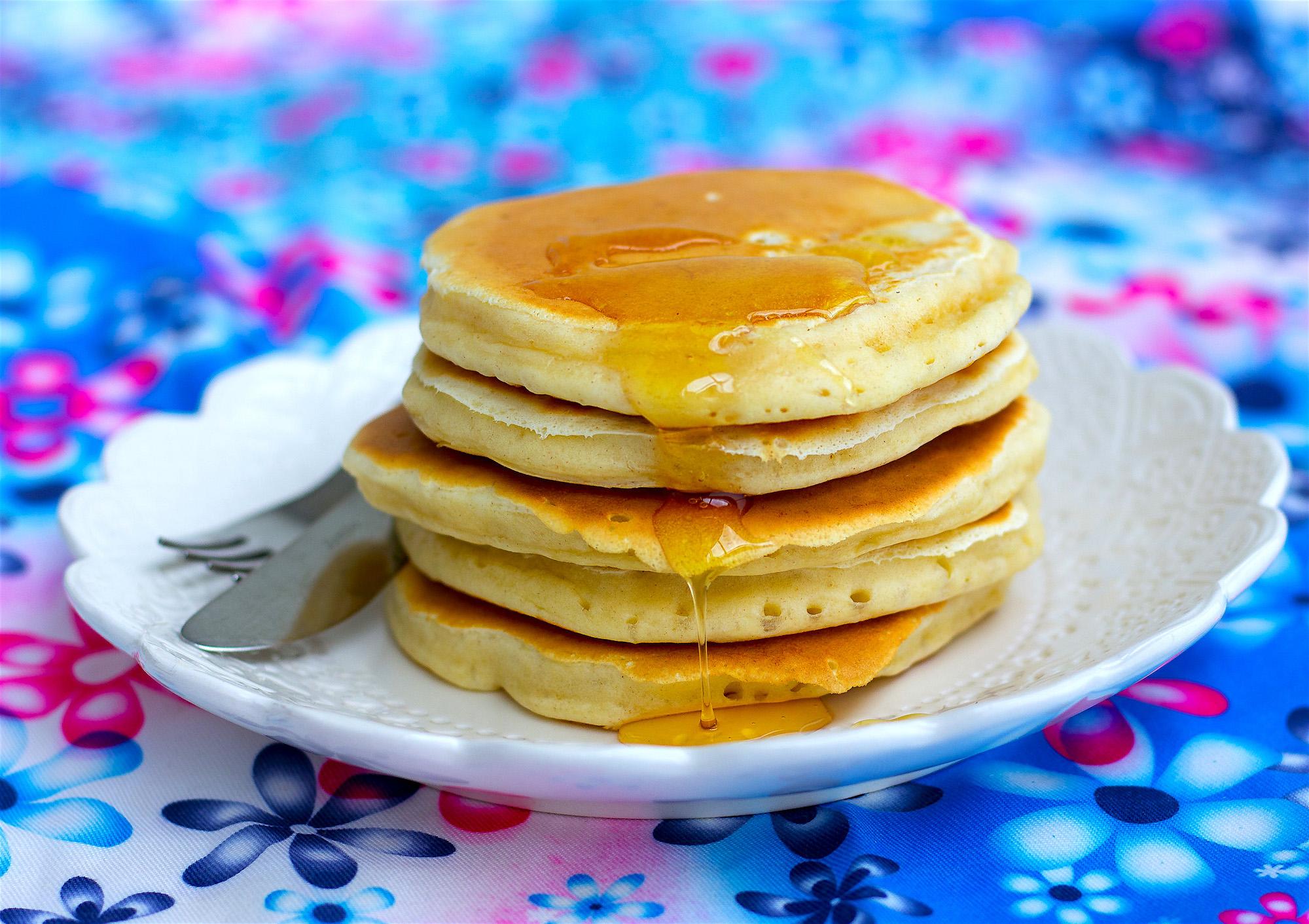 amerikanska pannkakor med bikarbonat