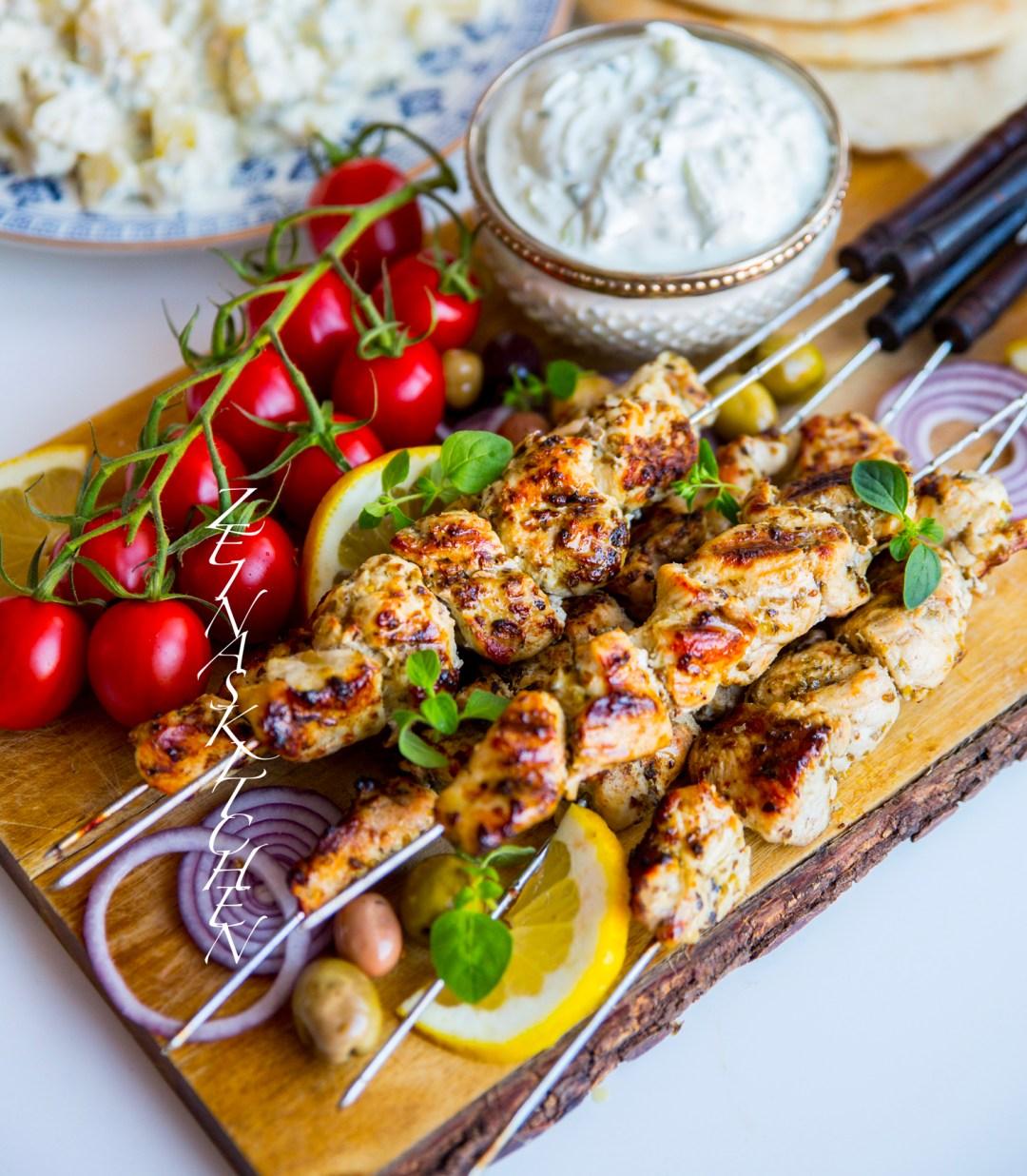 grekisk mat recept souvlaki