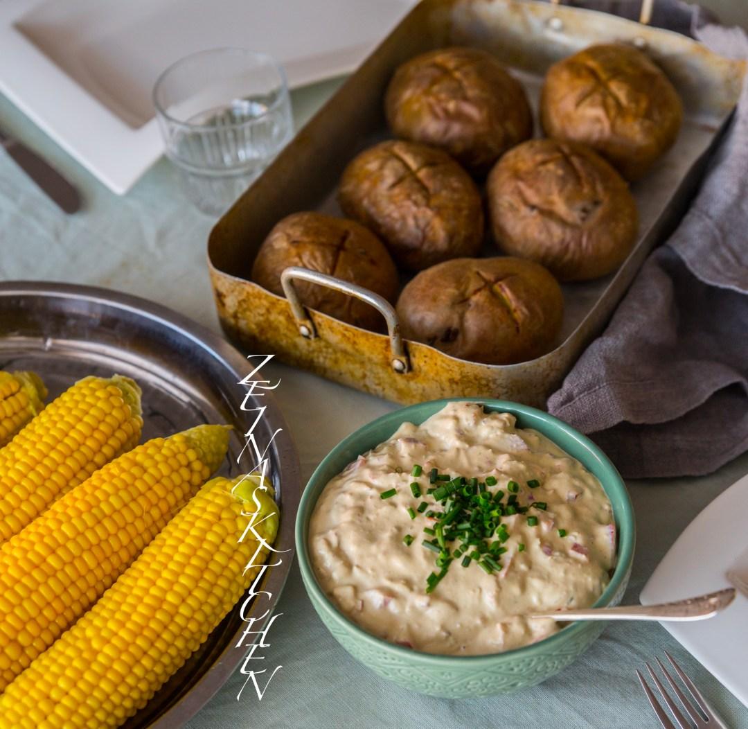 vegetariska röror till bakad potatis