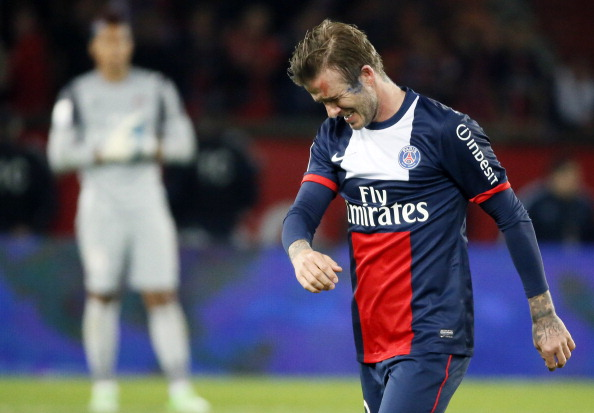 David Beckham In Tears As He Comes Off In His Final Match In Paris