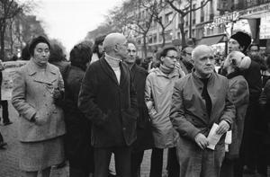 Activista social: en 1972, en Versailles, por la muerte de un trabajador (AP)