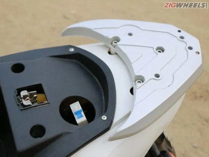 Hero Electric Cruz: MCB switch under the seat