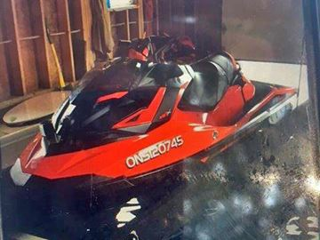 The OPP are investigating after a Sea-Doo was stolen from an Albert Street dock in Tay Township.