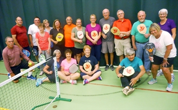 A total of 22 residents came out to James Keating Elementary School for the first indoor pickleball session.