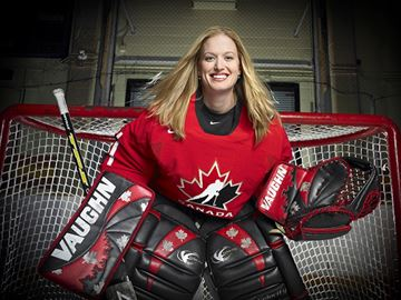 Canadian Olympic netminder Sami Jo Small will be speaking at a networking event in Midland on Oct. 19.