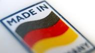 """Ein Logo mit der Aufschrift """"Made in Germany"""" (Symbolbild)"""