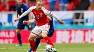 Christian Eriksen beim Spiel gegen Finnland am 12.06.2021