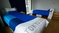So sieht im Olympischen Dorf ein Doppelzimmer aus.