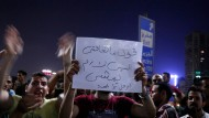 Demonstranten protestieren am Freitag in Kairo gegen den ägyptischen Präsidenten al Sisi.