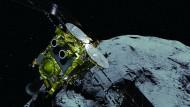 Hayabusa2 und der Asteroid Ryugu.