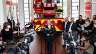 """""""Wir werden die Kommunen und die Betroffenen nicht alleine lassen"""", sagte Armin Laschet in Hagen."""