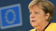 """""""Russland kann ja nur Gas liefern auf der Grundlage von vertraglichen Bindungen und nicht einfach so"""", sagt Angela Merkel."""