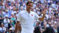 Roger Federer nach seiner Niederlage am Sonntag in Wimbledon
