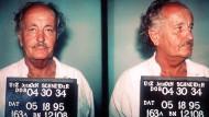 FBI-Fotos des Bauunternehmers Jürgen Schneider nach seiner Verhaftung am 18.5.1995 in Miami: Der damals 63-Jährige wurde des Betruges, Kreditbetruges und Bankrotts angeklagt.